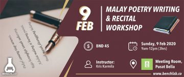 BenchLab Malay Poetry Writing & Recital Workshop