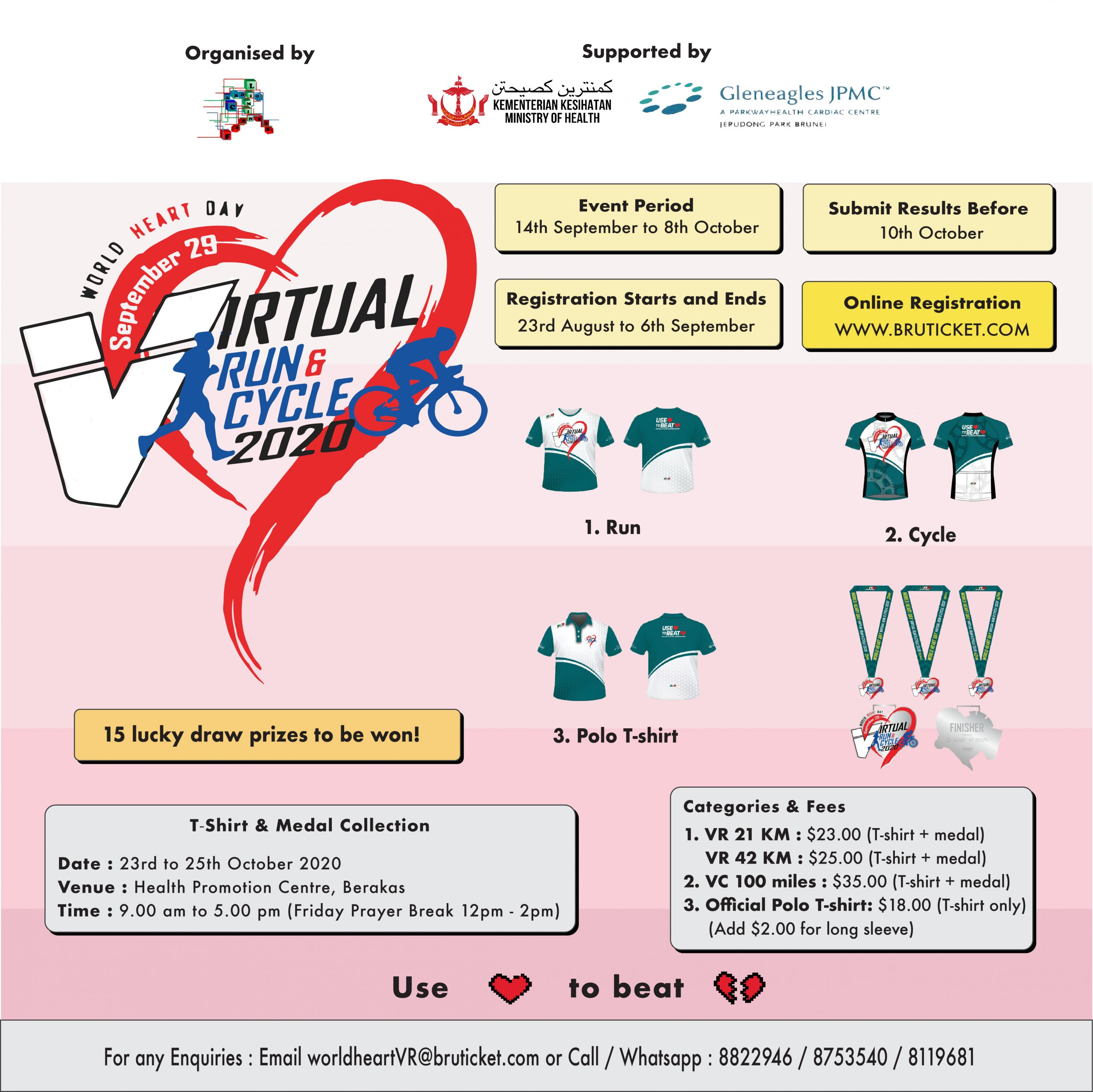 World heart day Virtual Run and Cycle 2020